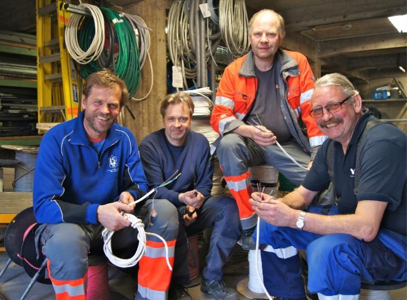 Ulf Ekfeldt, Sven-Erik Jordestig, Mats Carlsson och Karl-Ingvard Grandt.