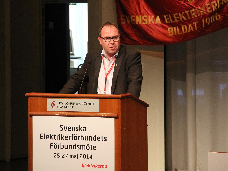 Jonas Wallin, Elektrikerförbundets ordförande. Foto: Eric Salomonsson