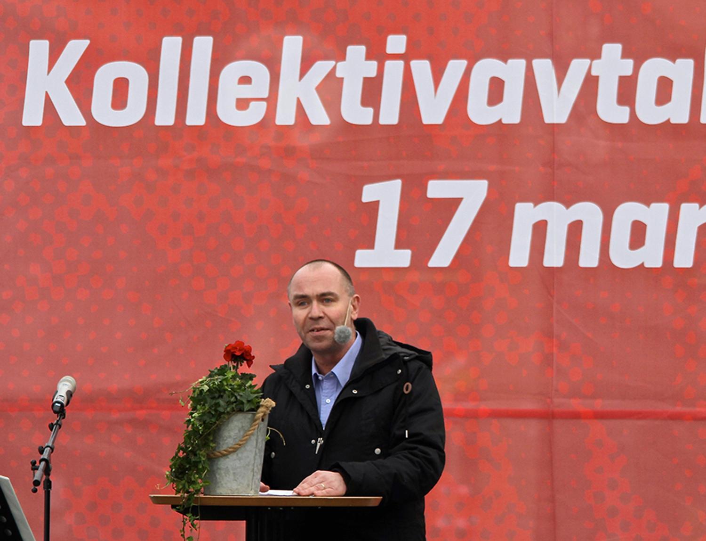 Jonas Wallin var kritisk mot politiker sm vill sänka ingångslöner. Foto: Leif Göbel