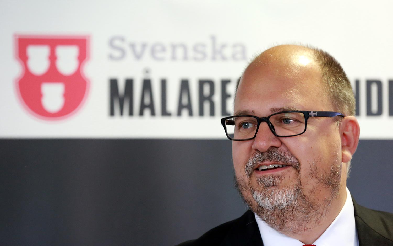 Karl-Petter Thorwaldsson inledde LO:s höstmöte med tal om hög tillväxt och låg arbetslöshet. Foto: Tomas Nyberg/Arkivbild