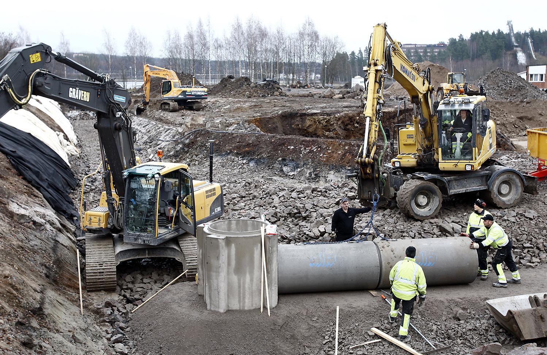 Det är i första hand byggnadsinvesteringarna som lyfter i installationsmarknaden. Foto: Tomas Nyberg