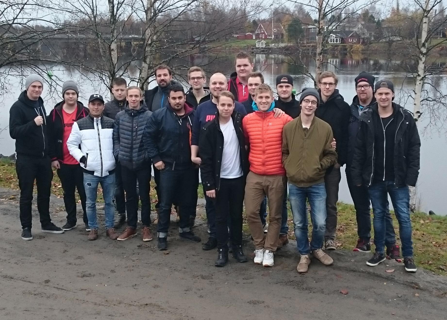 Ungdomar inom elektrikerförbundet från hela landet möttes i Umeå. Foto: Casper Flory