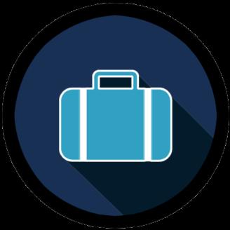 En stiliserad ikon av en väska
