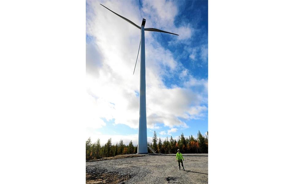 Ett vindkraftsverk