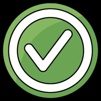 En grön ikon med en bok på