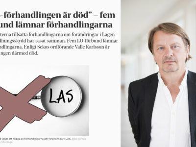 Mats Glavå, docent i arbetsrätt, bredvid ett skärmklipp från en tidigare artikel i Elektrikern