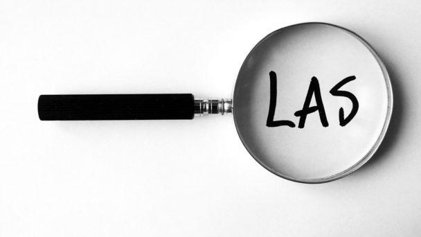 Ett förstoringsglas över ordet LAS