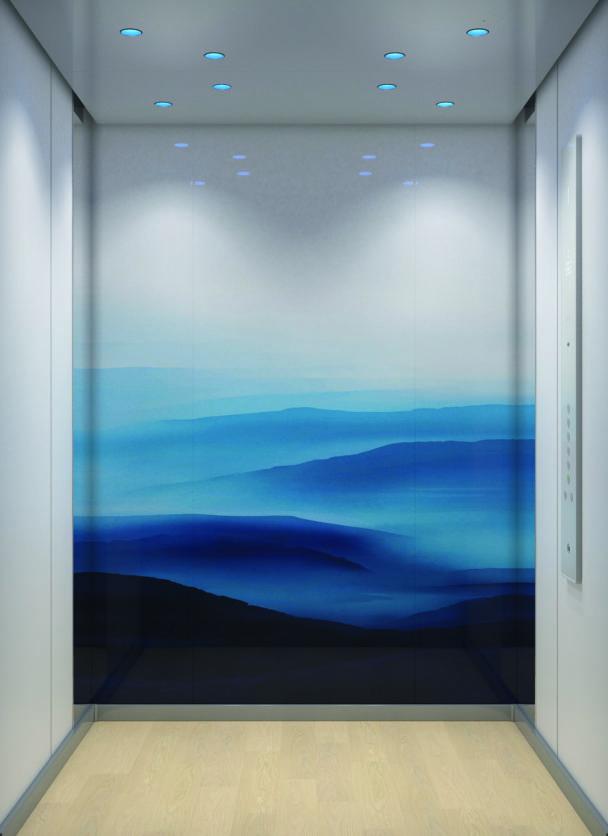 Bild på hissen