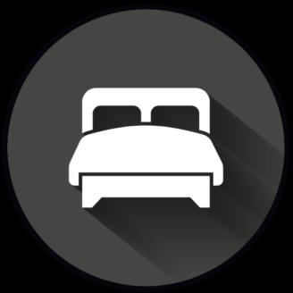 En stiliserad ikon av en säng