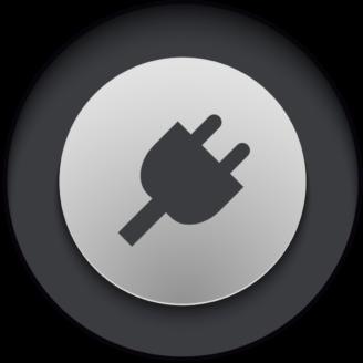 En stiliserad ikon av en stickkontakt