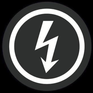 En stiliserad ikon av en blixt