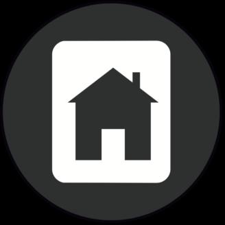 En stiliserad ikon av ett hus