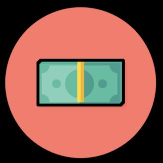 En ikon av sedlar