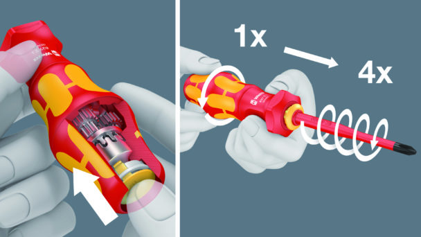 Instruktionsbild för skruvmejseln