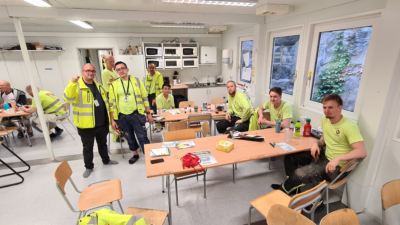 Bild från arbetsplatsen