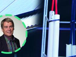 Ett foto på Örjan Borgström monterat övet ett montage med två bilder på olika system