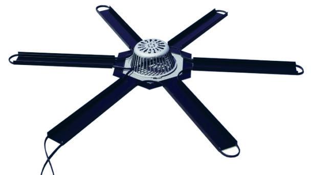 En fläkt med 6 rotorblad