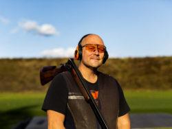 Pierre Håkansson på skyttebanan