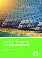"""Framsidan på boken """"Installation av solcellsanläggningar"""""""