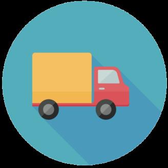 En tecknad lastbil