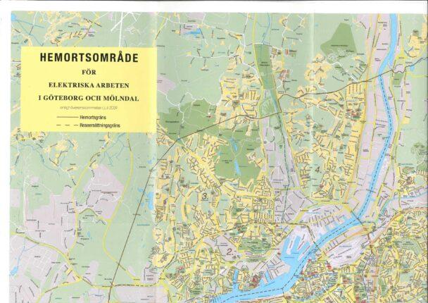 En karta över Göteborg och Mölndal