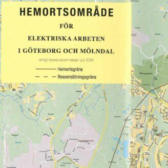 En karta med texten Hemortsområde på