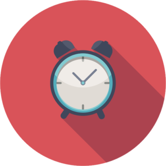 En tecknad väckarklocka
