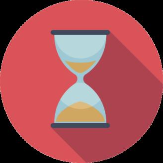 Ett tecknat timglas
