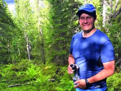 Jens Martensson i en skog