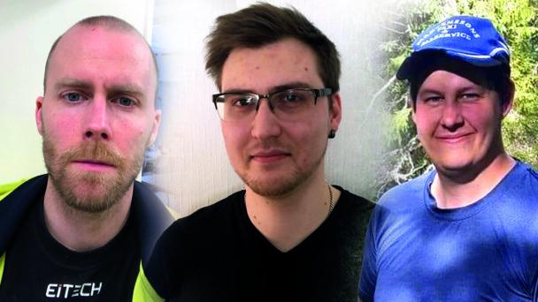 Ett bildmontage med foton på Sven Sundstrom, Elias Ferdinandsson och Jens Martensson.