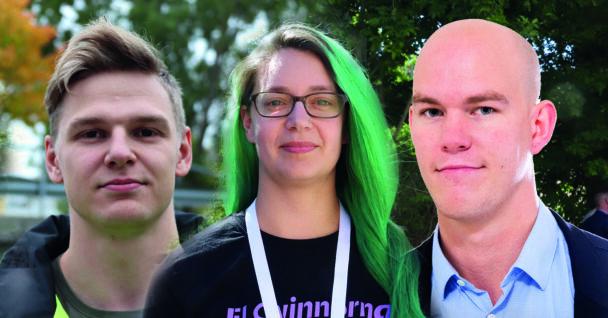 Ett montage med foton på David Wikström, Elin Fagerlind och Claes Thim