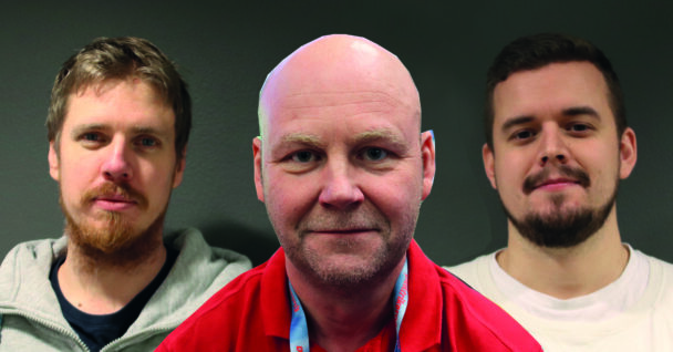 Bildmontage med Oskar Svanström, Lars Pettersson och Mikael Sjöström