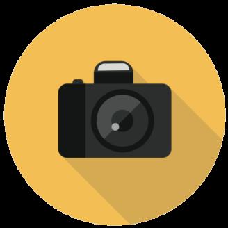 En tecknad kamera