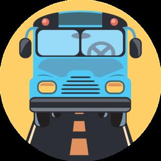 En tecknad buss