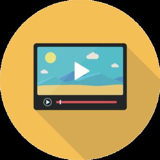 En tecknad bild på en skärm som visar en film