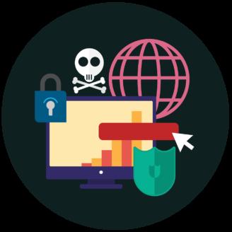 Tecknade symboler för it-säkerhet