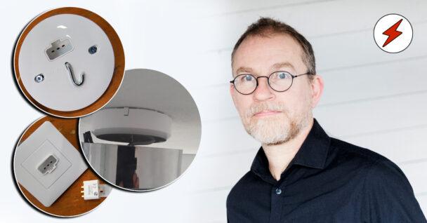 En bild på Jan-Erik Johansson monterad invid bilder på de nya DCL-uttagen
