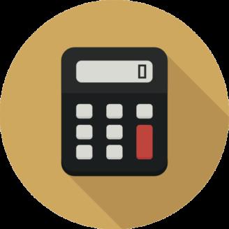 En tecknad miniräknare