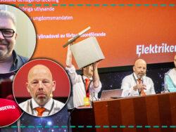 Bilder på Stefan Lyshed Jakobsson och Mikael Gustavsson monterade över en bild från ett tidigare möte