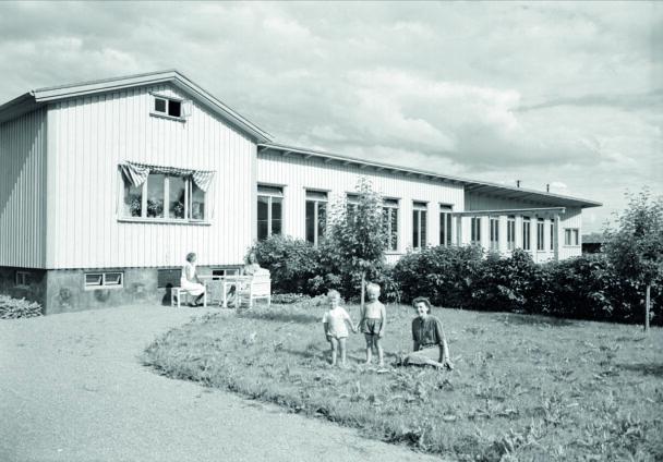 Svartvit bild på Petterslund från 1940