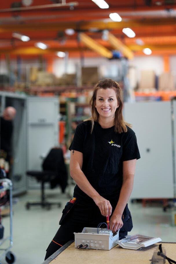 Amanda Lindqvist på jobbet