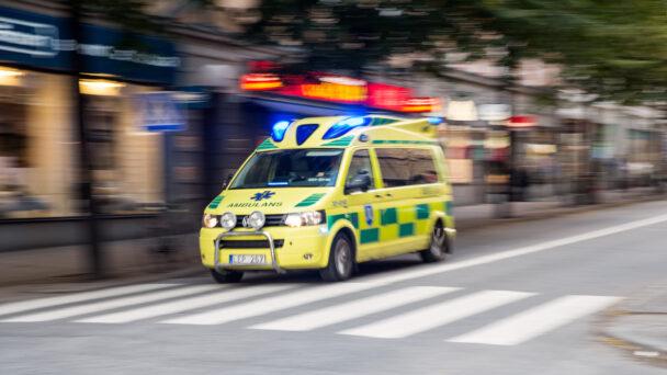 En ambulans på utryckning